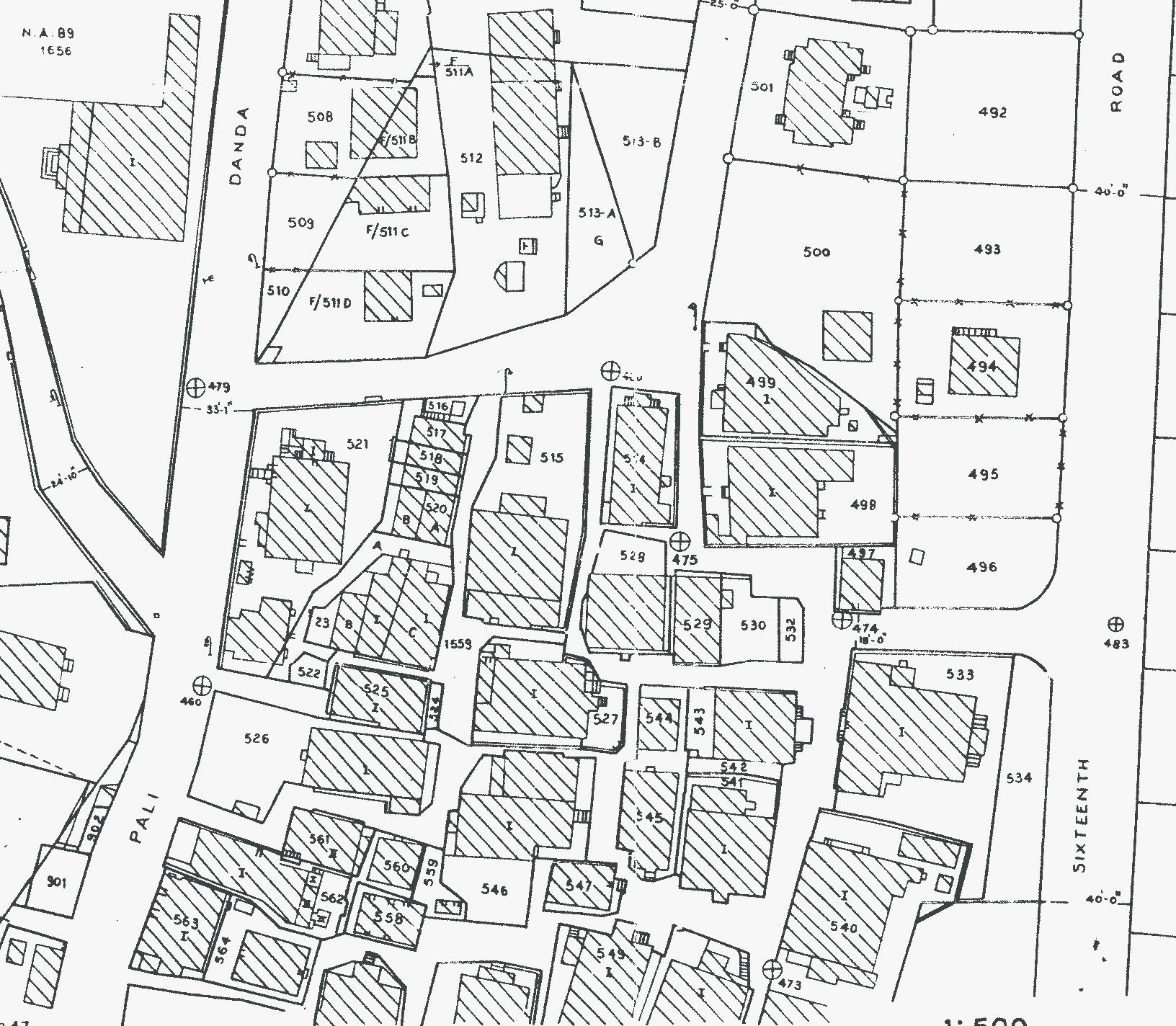 ecosystems  affordable housing institute – global blog - part of a city  town survey map s indicating property lines andbuilt form in pali gaothan all plot numbers correspond to privateindividual